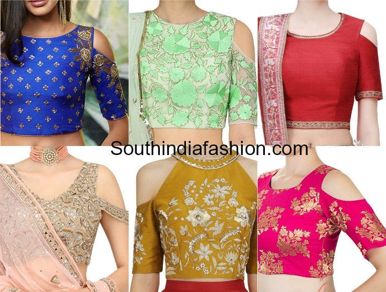 Cold Sleeves Blouse Designs – Designer blouses with cold shoulders