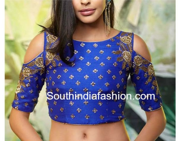 9 Latest Cold Shoulder Crop Top Designs South India Fashion