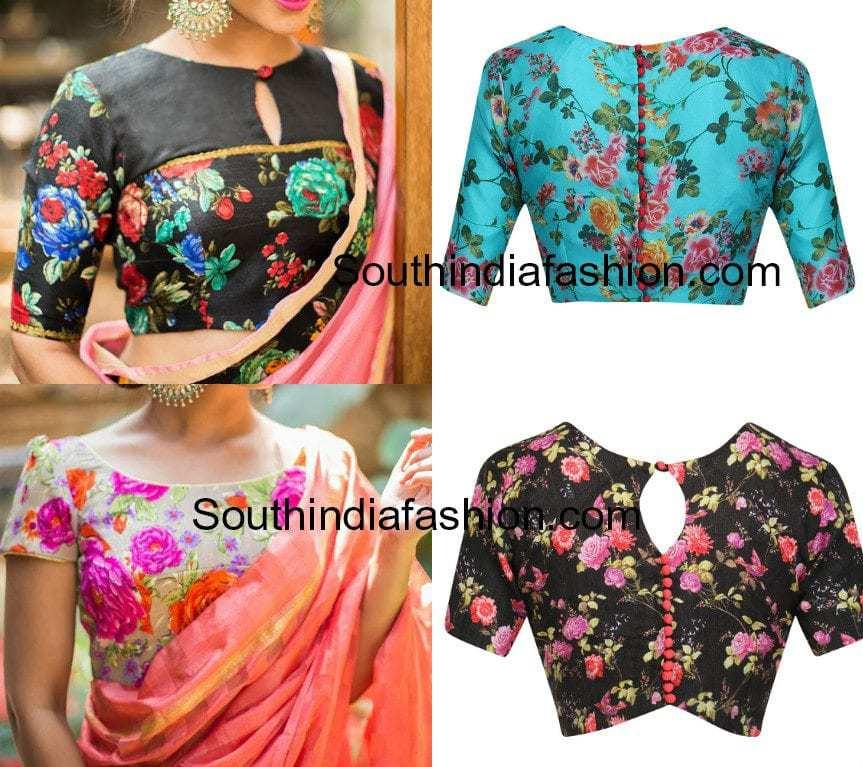 floral blouse patterns
