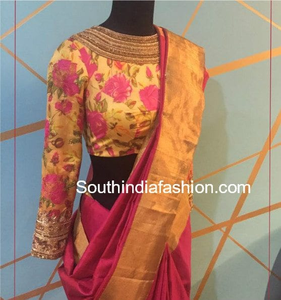e9fe75bb6212a3 Top 20 Most Trending Blouse Designs For Silk Sarees!