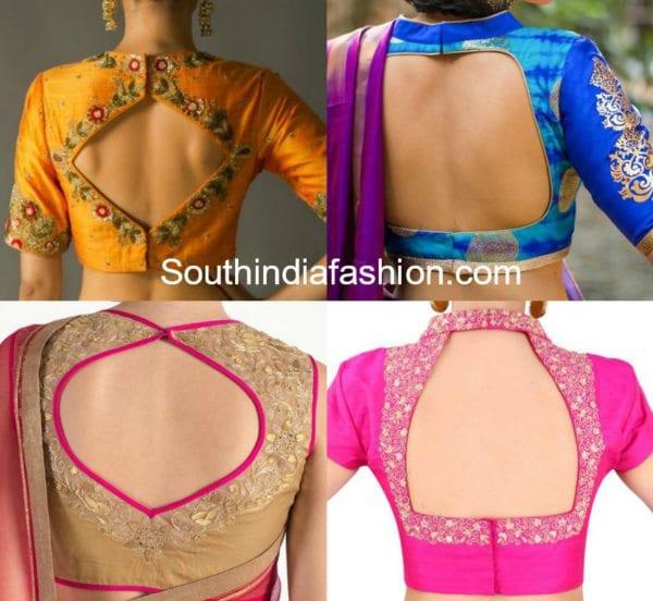 geometic-cut-out-saree-blouse-designs