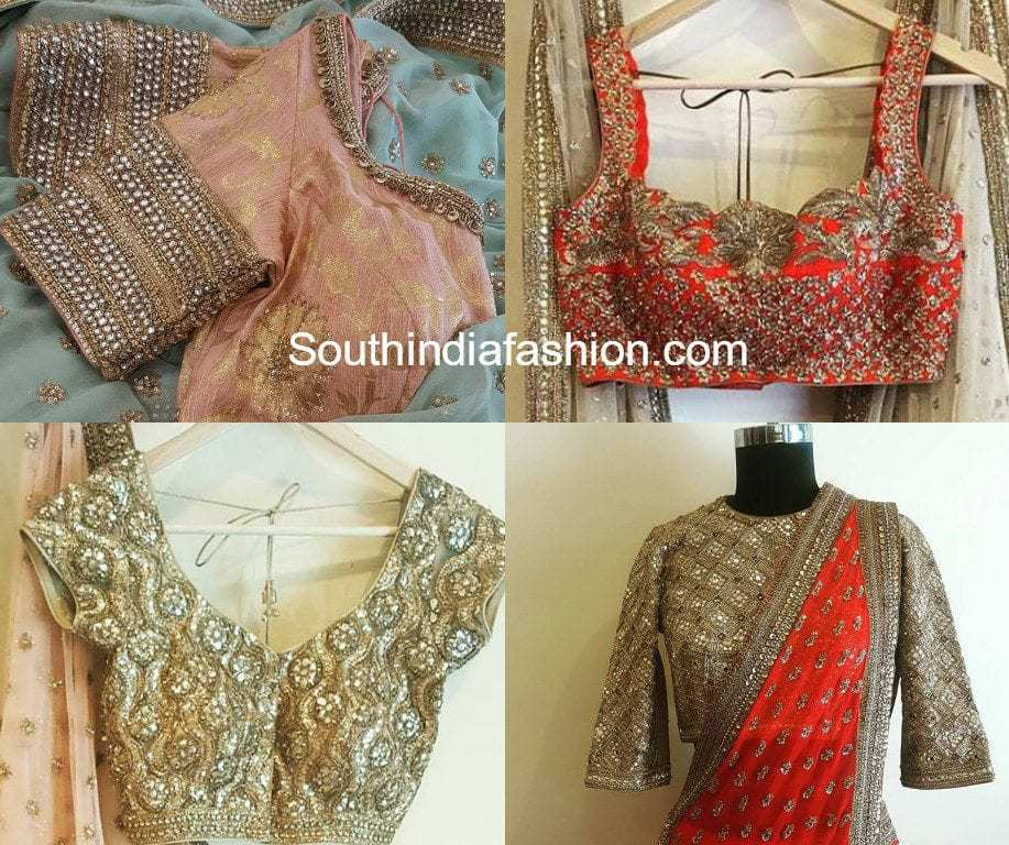 bridal saree blouses by french curve anjali sharma