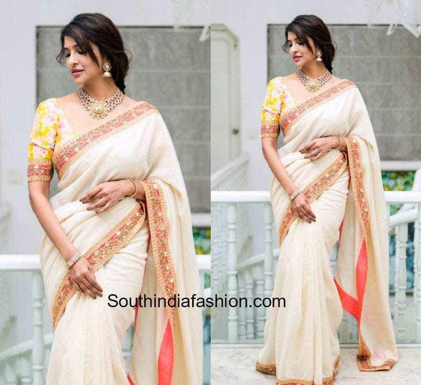 lakshmi manchu white sabyasachi saree shyam prasad reddy daughter wedding