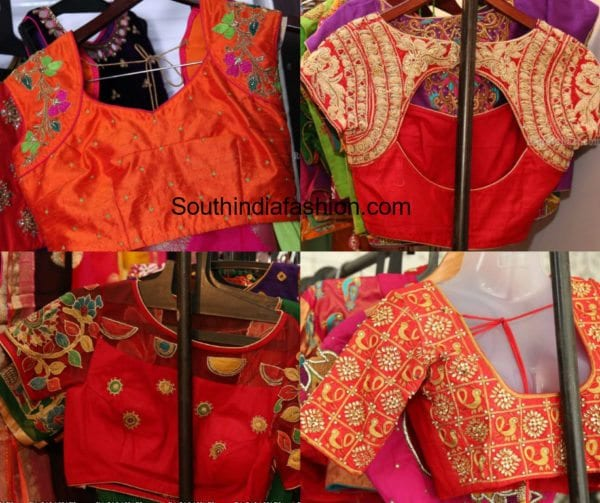 maggam embroidered blouse designs