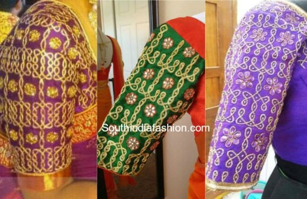 silk-saree-muggu-work-blouse-designs