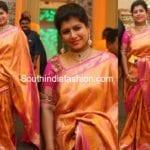 Nikhita Reddy in a Kanjeevaram saree