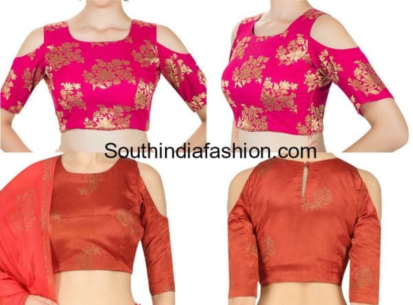 9 latest cold shoulder crop top designs �south india fashion