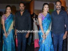 director krish wife ramya in pattu saree at shyam prasad reddy daughter wedding