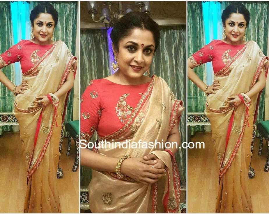 ramya krishna archita narayanam saree ramoji rao grand daughter wedding