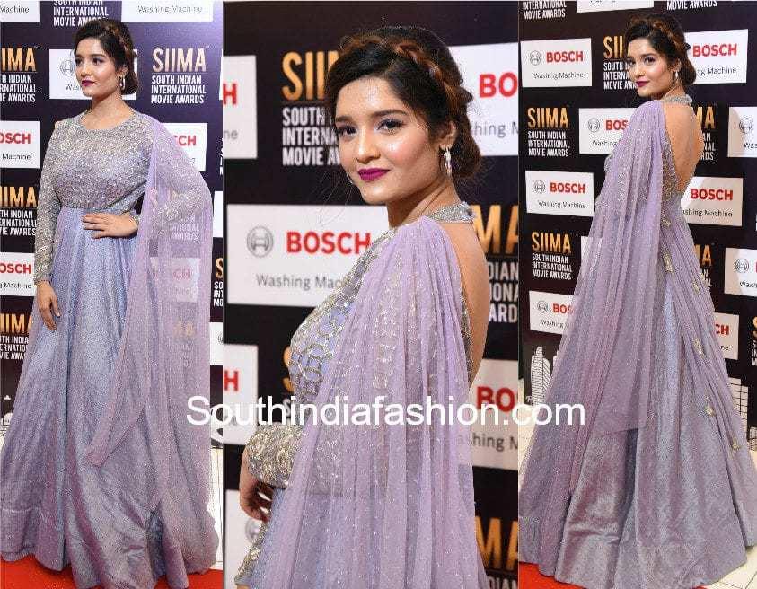 rithika singh lavender anarkali siima awards vaishali couture