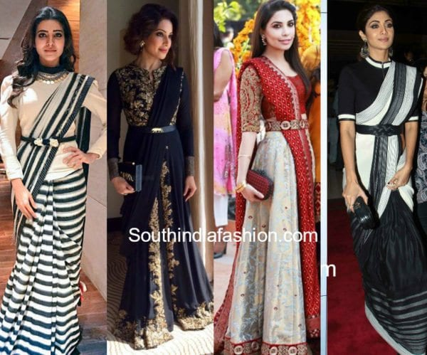 indian outfits with belts
