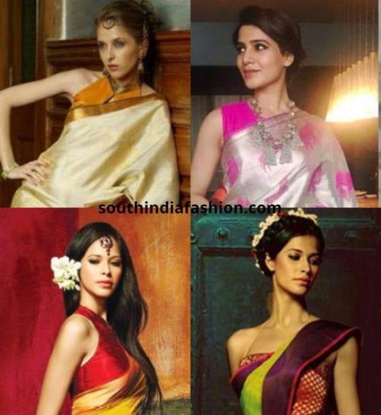 Sleeveless Blouses For Kanjeevaram Sarees