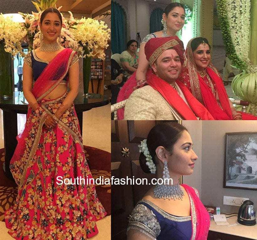 tamannaah bhatia brother wedding photos