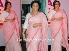 vidya balan pink saree