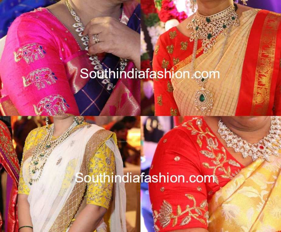 SIMPLE EMBROIDERED BLOUSE DESIGNS FOR PATTU SILK SAREES