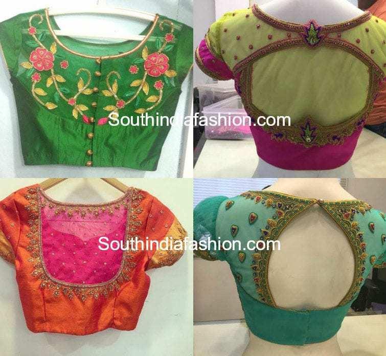 Net Saree Blouse Fashion Trends South India Fashion
