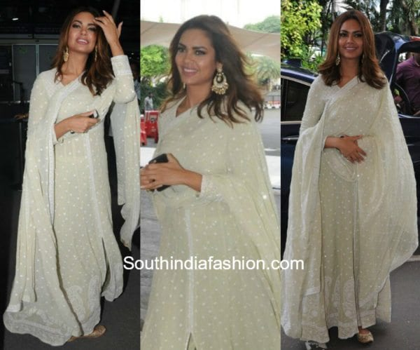 Esha Gupta in Anjul Bhandari for the promotions of Baadshaho