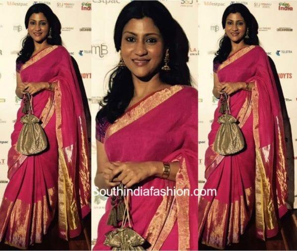 Konkana Sen Sharma in an Anavila Saree at Indian Film Festival in Melbourne