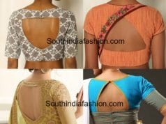 TRIANGLE SHAPED BLOUSE BACK NECK DESIGNS