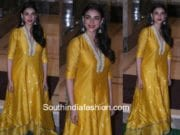 aditi rao hydari yellow myoho dress ganesh pooja 2017