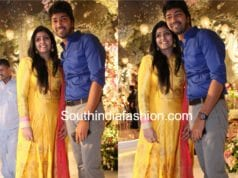 Allari Naresh with wife Virupa at Rachana Choudhary's Engagement