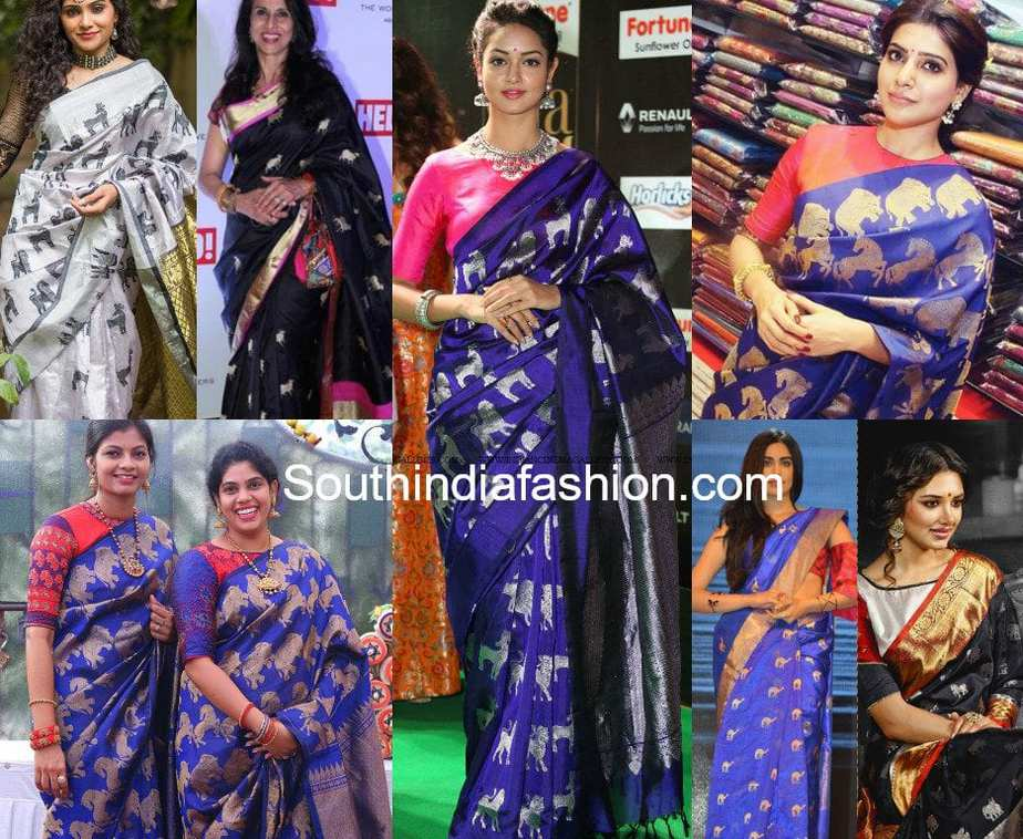 animal motif kanjeevaram silk pattu sarees
