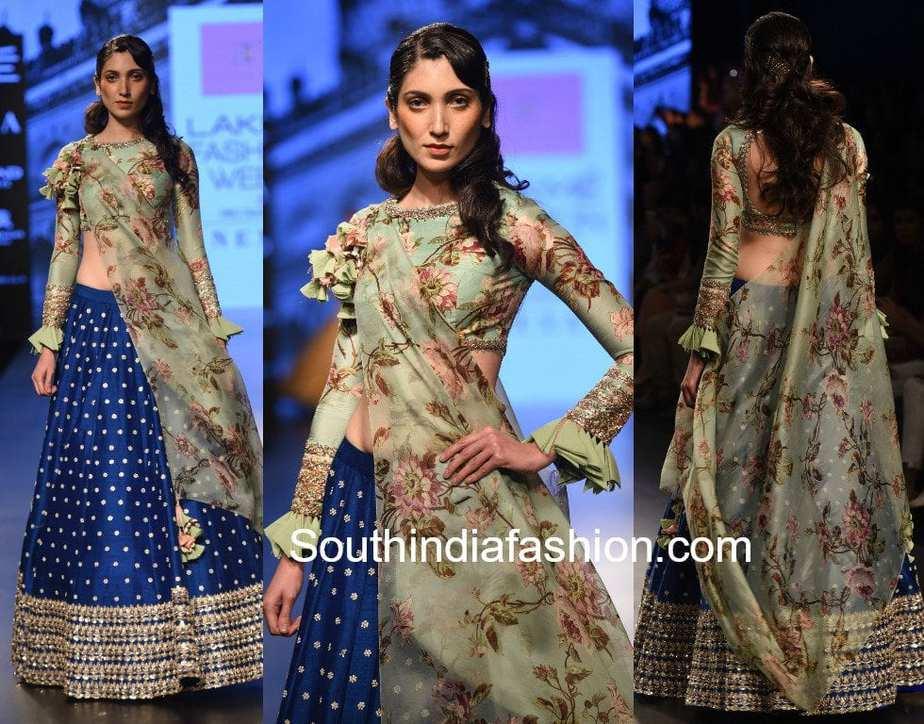 Anushree Reddy Collection At Lakme Fashion Week 2017 South India Fashion
