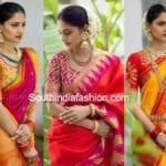 Kanjeevaram Sarees and Designer Bridal Blouses by Bhargavi Kunam