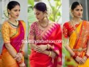 bhargavi kunam pattu sarees and blouse designs