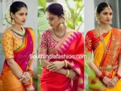 bhargavi kunam pattu sarees and blouse designs