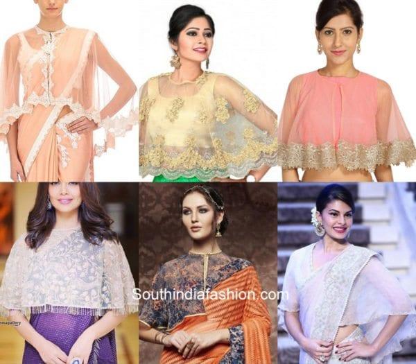 karwa-chauth-saree-cape-blouse-designs