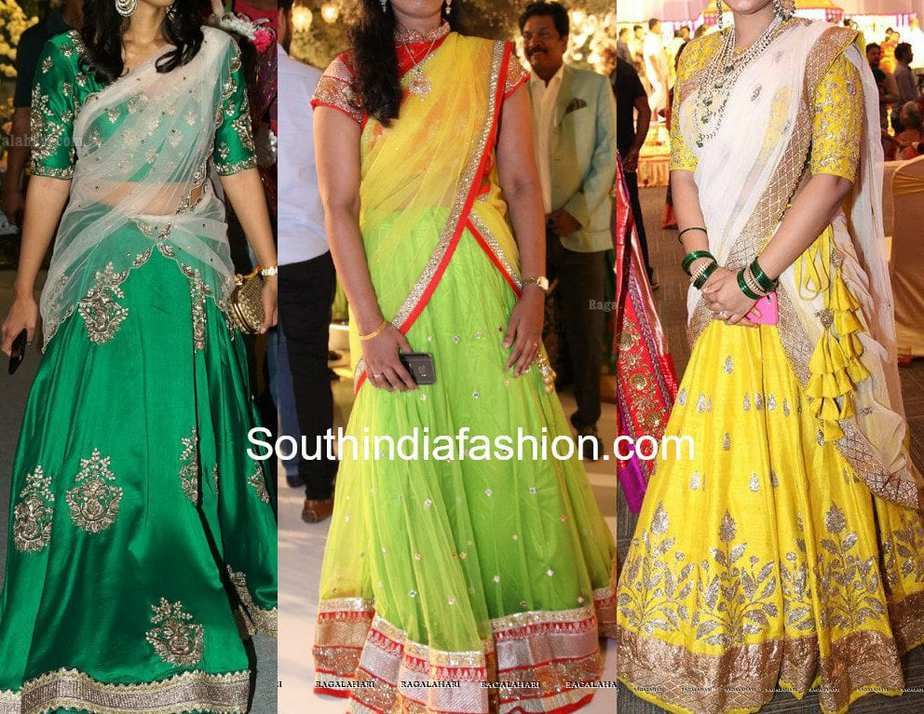 Latest Half Saree Designs South India Fashion