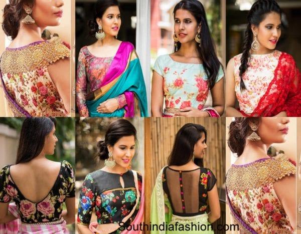 floral-saree-blouses