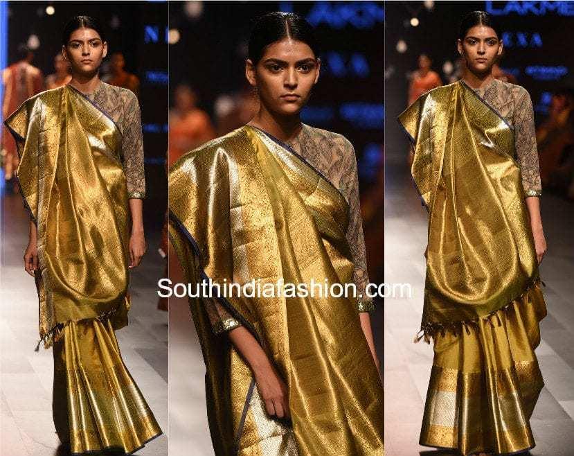 Gaurang Lakme Fashion Week 2017 kalamkari kanchi Collection