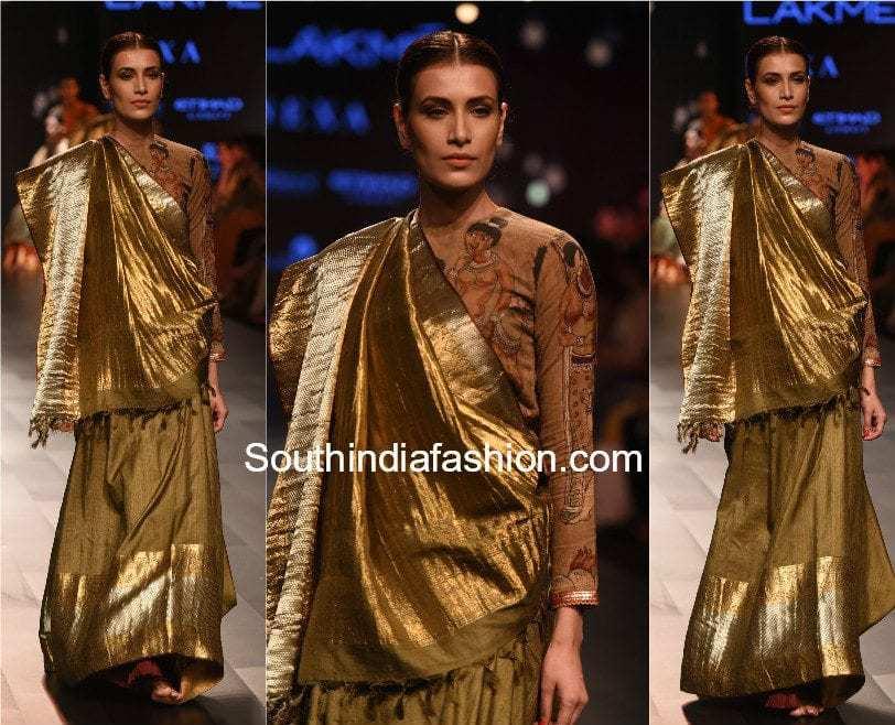 Gaurang shah Lakme Fashion Week 2017 kalamkari kanchi Collection