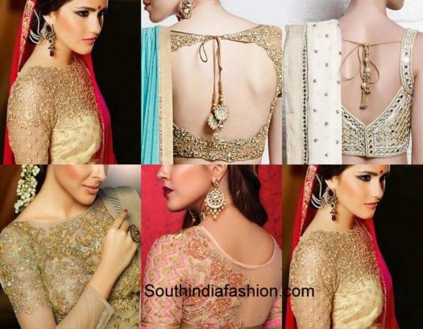 golden-blouse-designs-diwali