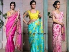 latest designer sarees by Issa Studio