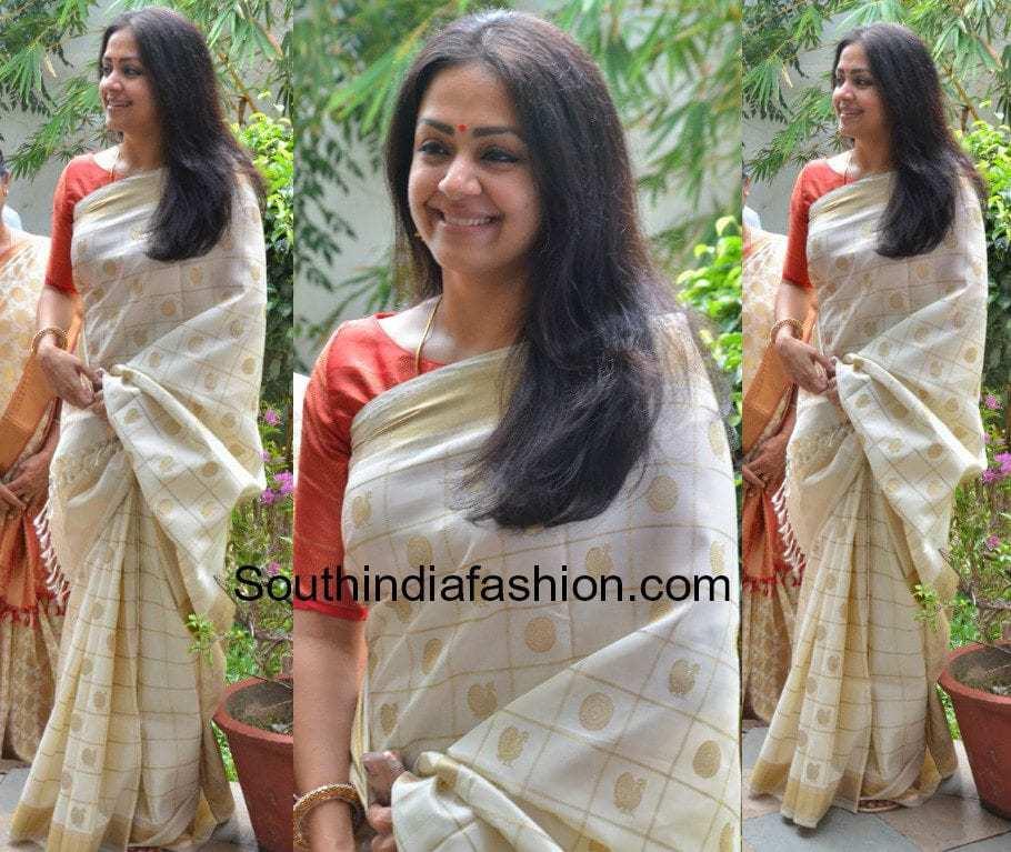 Jyothika In A Handloom Kanjivaram Saree South India Fashion