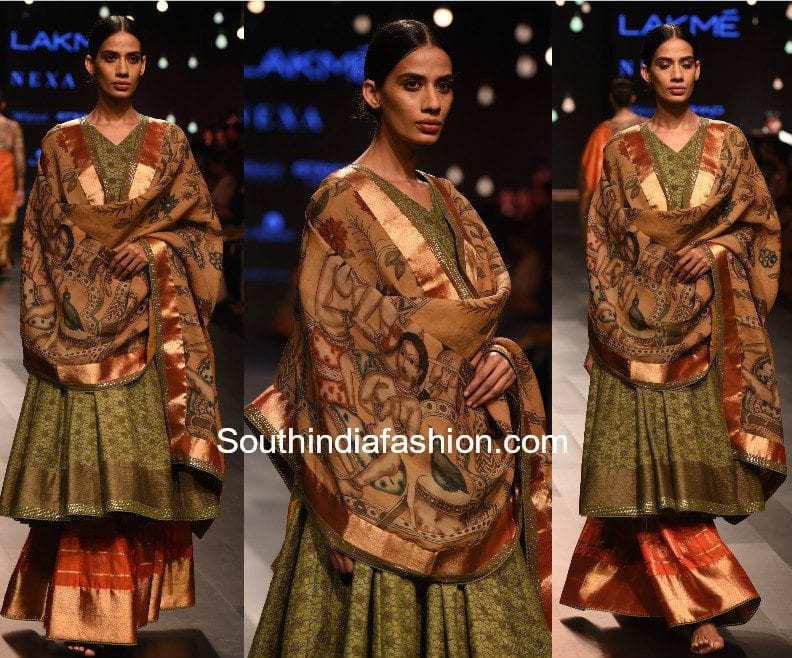 Gaurang Lakme Fashion Week 2017 kalamkari kanchi anarkalis