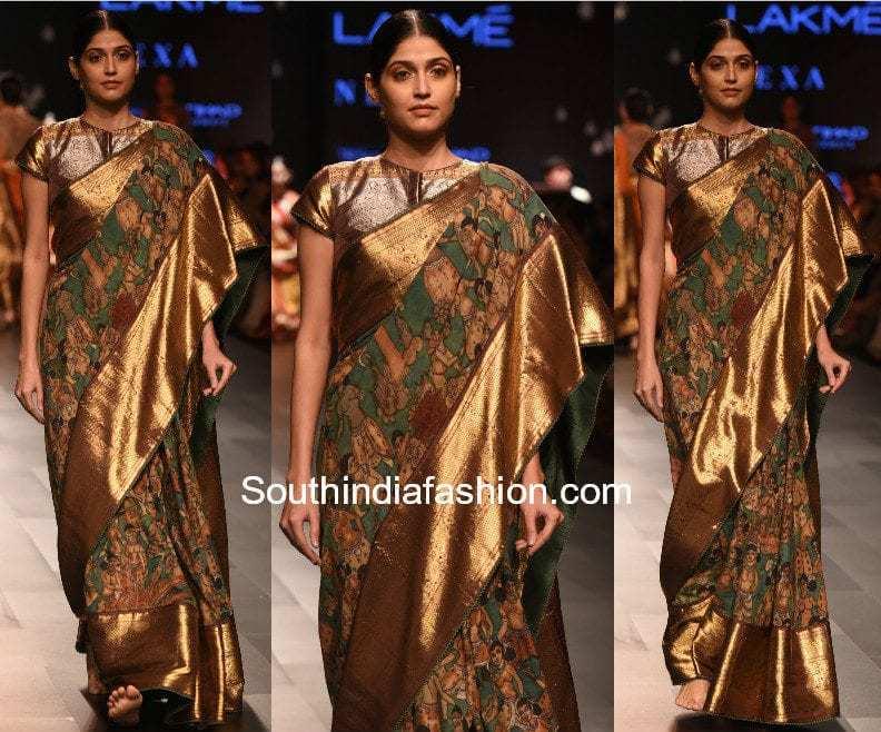 Gaurang Lakme Fashion Week 2017 kalamkari kanchi sarees