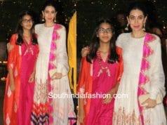 Karishma Kapoor with daughter sameira kapoor at ambani ganesh chaturthi celebrations