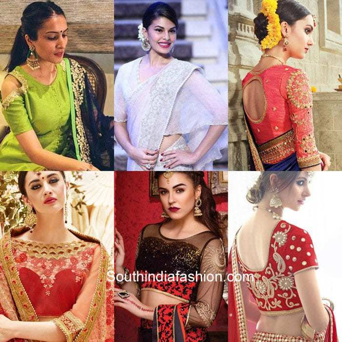 karwa-chauth-saree-blouse-designs