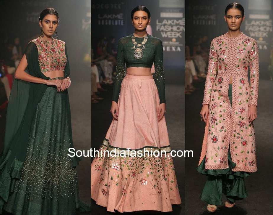 divya reddy collection at lakme fashion week winter festive 2017