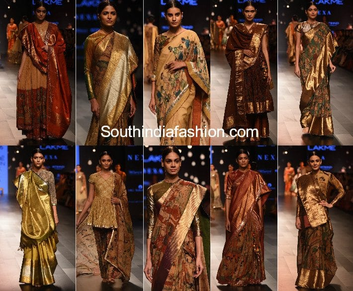 Gaurang Lakme Fashion Week 2017 Chitravalai Collection