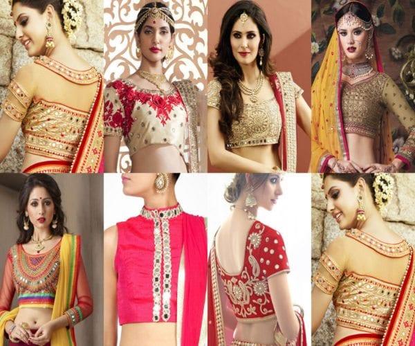 karwa-chauth-saree-mirror-work-blouse-designs