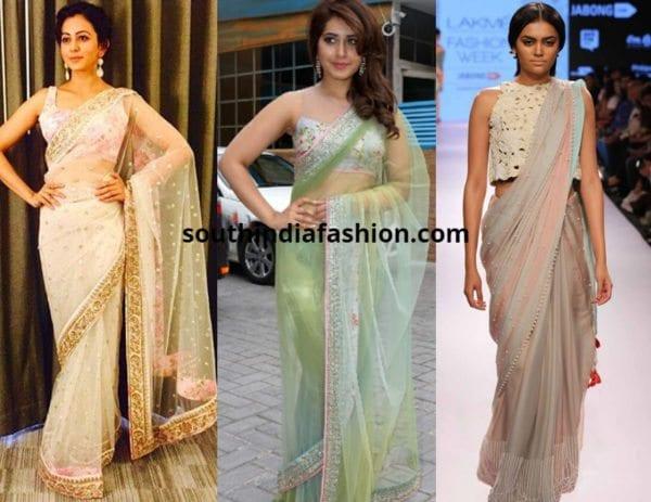 pastel sarees