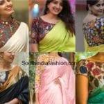 Plain Saree With Kalamkari Blouse – A Must Try Look!