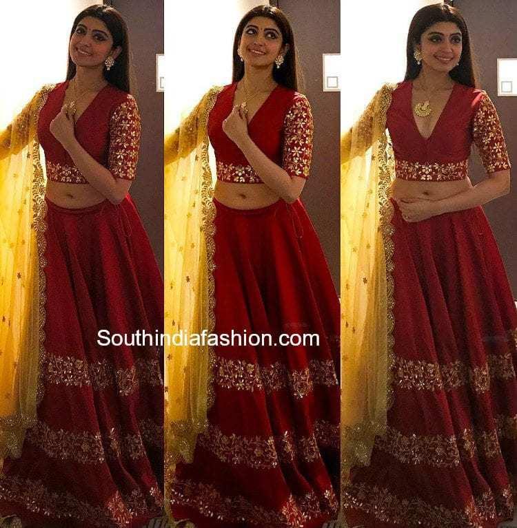pranitha subhash ashwini reddy lehenga