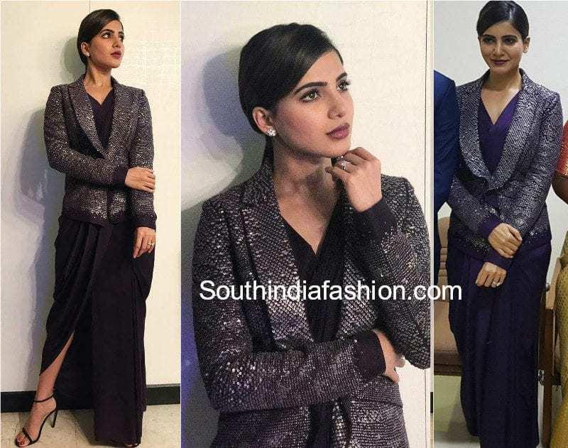 samantha prabhu dress in mersal audio launch