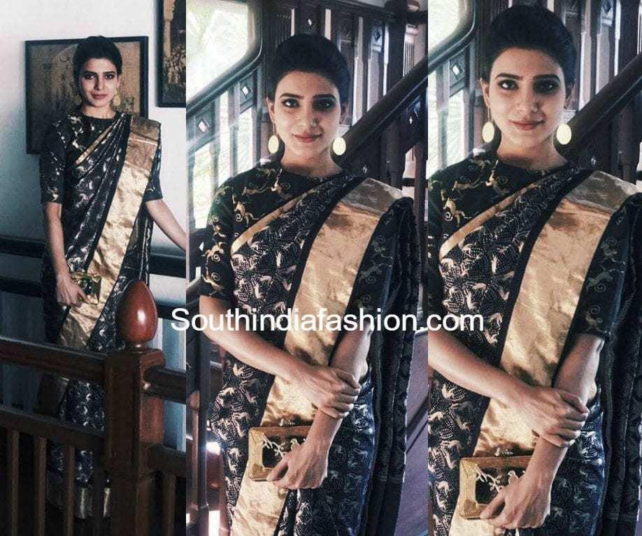 samantha prabhu animal motif kanjeevaram silk pattu sarees